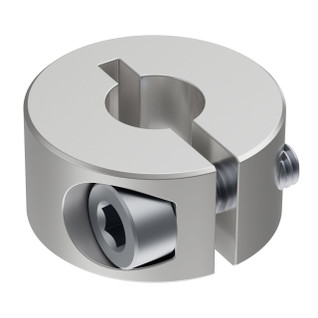 2910-0816-0006 - 2910 Series Aluminum Clamping Collar (6mm ID x 16mm OD, 8mm Length)