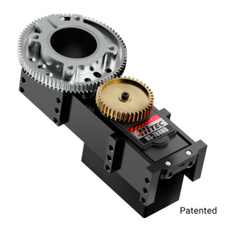 3206-0002-0002 - 3206 Series Servo Gearbox (2:1 Ratio, Hitec HS-788HB Servo)