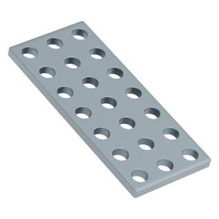 1139-0024-0056 - 1139 Series Steel Grid Plates (3 x 7 Hole, 24 x 56mm) - 2 Pack