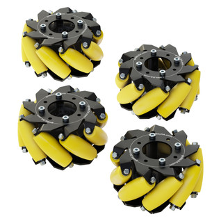 3213-3606-0001 -3606 Series Mecanum Wheel Set (Bearing Supported Rollers, 100mm Diameter)