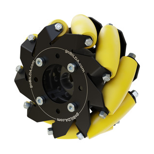 3606-0100-0100 - 3606 Series Mecanum Wheel (Right Slant, High Durability, Bearing Supported Rollers - 100mm Diameter)