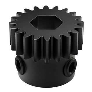 2303-4008-0020 - 2303 Series Steel, MOD 0.8 Pinion Gear (8mm REX Bore, 20 Tooth)