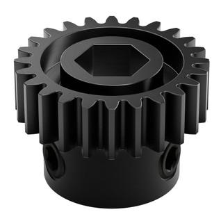 2303-4008-0024 -2303 Series Steel, MOD 0.8 Pinion Gear (8mm REX Bore, 24 Tooth)