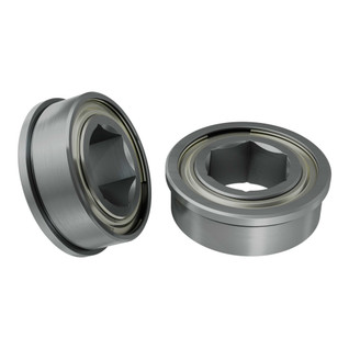 1611 Series Flanged Ball Bearing (8mm REX ID x 14mm OD, 5mm Thickness) - 2 Pack