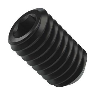 2806 Series Black Oxide Steel Cup-Point Set Screw (M5 x 0.8mm, 8mm Length) - 25 Pack