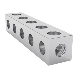 1106-0005-0040 - 1106 Series Square Beam (5 Hole, 40mm Length)
