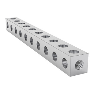 1106-0010-0080 - 1106 Series Square Beam (10 Hole, 80mm Length)