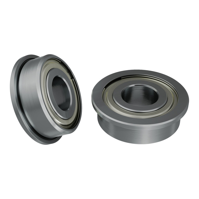1601-0014-0006 - 1601 Series Flanged Ball Bearing (6mm ID x 14mm OD, 5mm Thickness) - 2 Pack