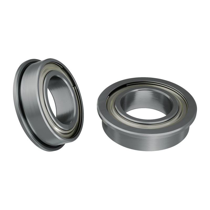 1601-0014-0008 - 1601 Series Flanged Ball Bearing (8mm ID x 14mm OD, 4mm Thickness) - 2 Pack