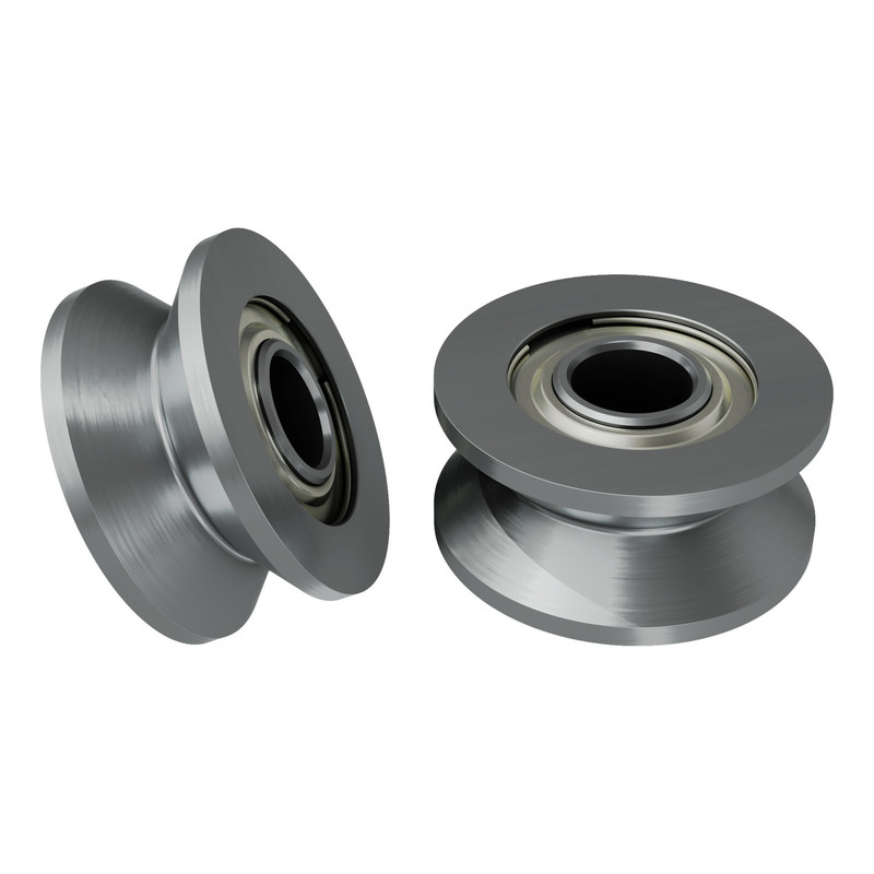 1609-0613-0004 - 1609 Series V-Groove Bearing (4mm ID x 13mm OD, 6mm Thickness) - 2 Pack
