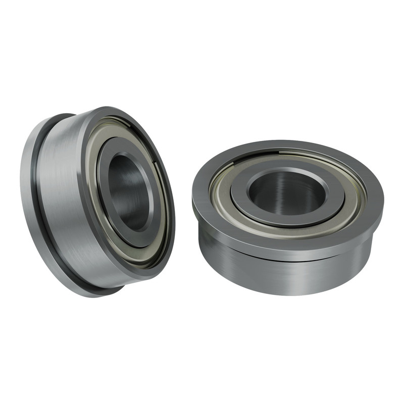 1611-0514-0006 - 1611 Series Flanged Ball Bearing (6mm ID x 14mm OD, 5mm Thickness) - 2 Pack