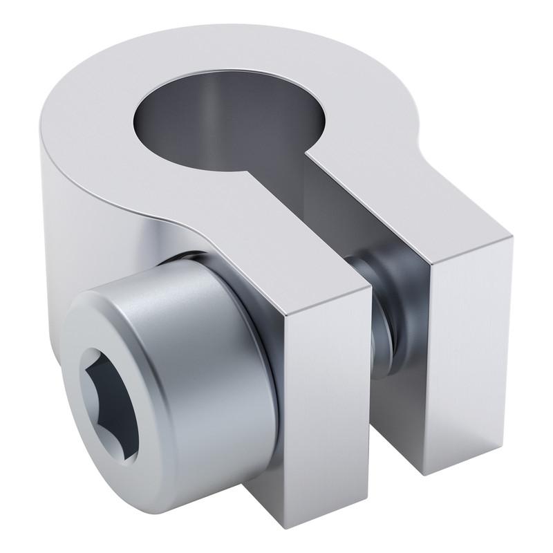 2905-0006-0008 - 2905 Series Aluminum Clamping Collar (6mm Bore, 8mm Length)