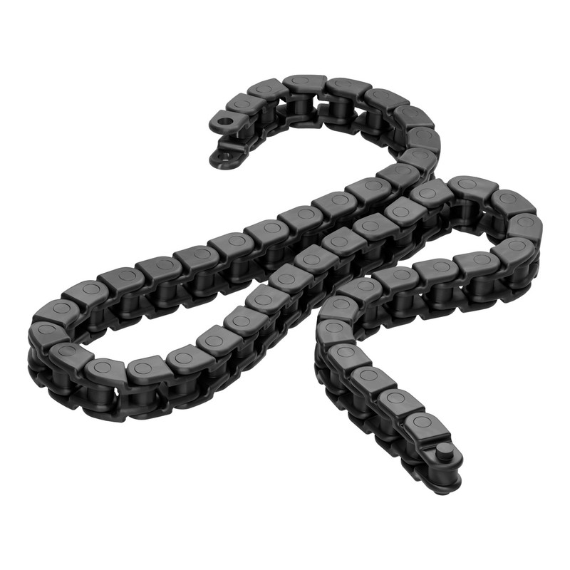 3309-0108-0050 - 3309 Series 8mm Pitch Plastic Chain (50 Links/400mm, Black)