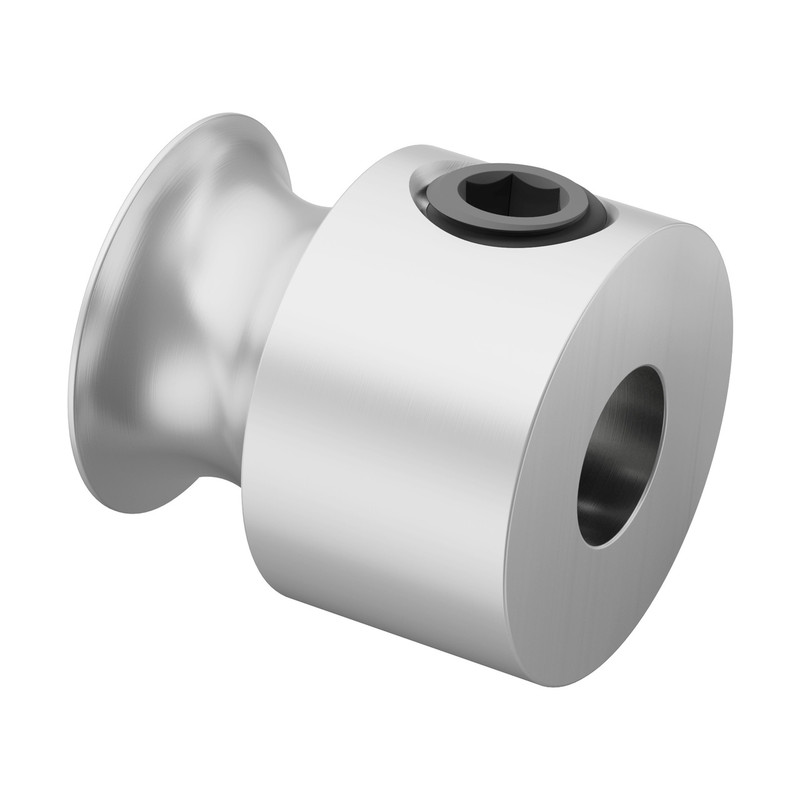 3401-0005-0008 - 3401 Series Set Screw Round Belt Pulley (5mm Bore, 8mm PD)