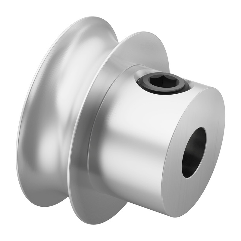 3401-0005-0016 - 3401 Series Set Screw Round Belt Pulley (5mm Bore, 16mm PD)