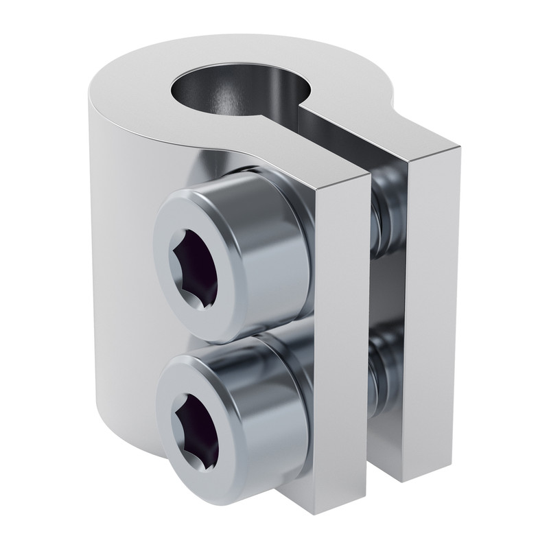 """4000-0008-0250 - 4000 Series Clamping Shaft Coupler (8mm Round Bore to 0.250"""" Round Bore)"""