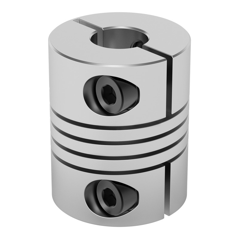 4002-0006-0008 - 4002 Series Flexible Clamping Shaft Coupler (6mm Round Bore to 8mm Round Bore)