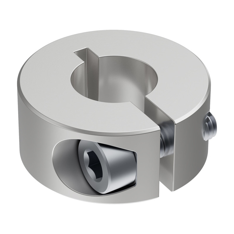 2910-0818-0008 - 2910 Series Aluminum Clamping Collar (8mm ID x 18mm OD, 8mm Length)