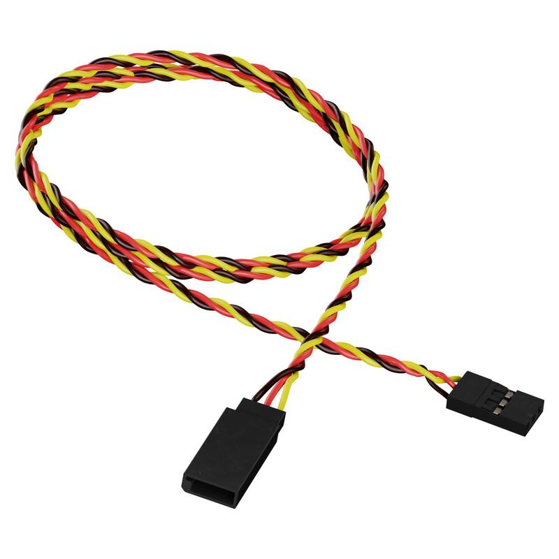 3802-1718-0600 - 3-Pos TJC8 Servo Extension (MH-FC to FH-MC, 600mm Length)