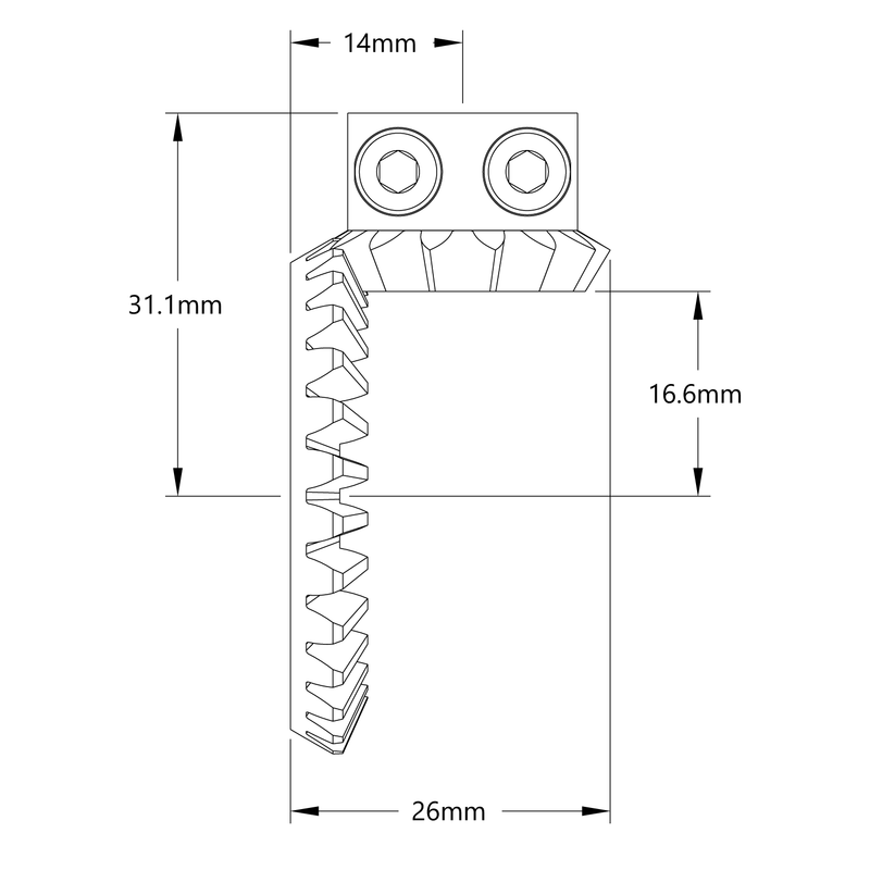 2:1 Ratio Bevel Gear Set