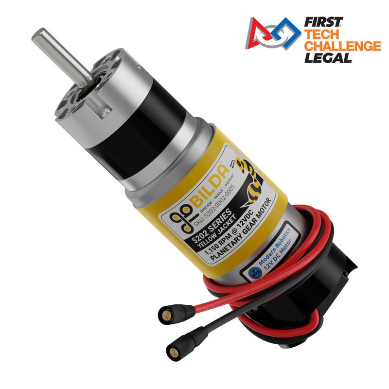 5202 Series Yellow Jacket Planetary Gear Motor w/Encoder (5.2:1 Ratio, 1,150 RPM)