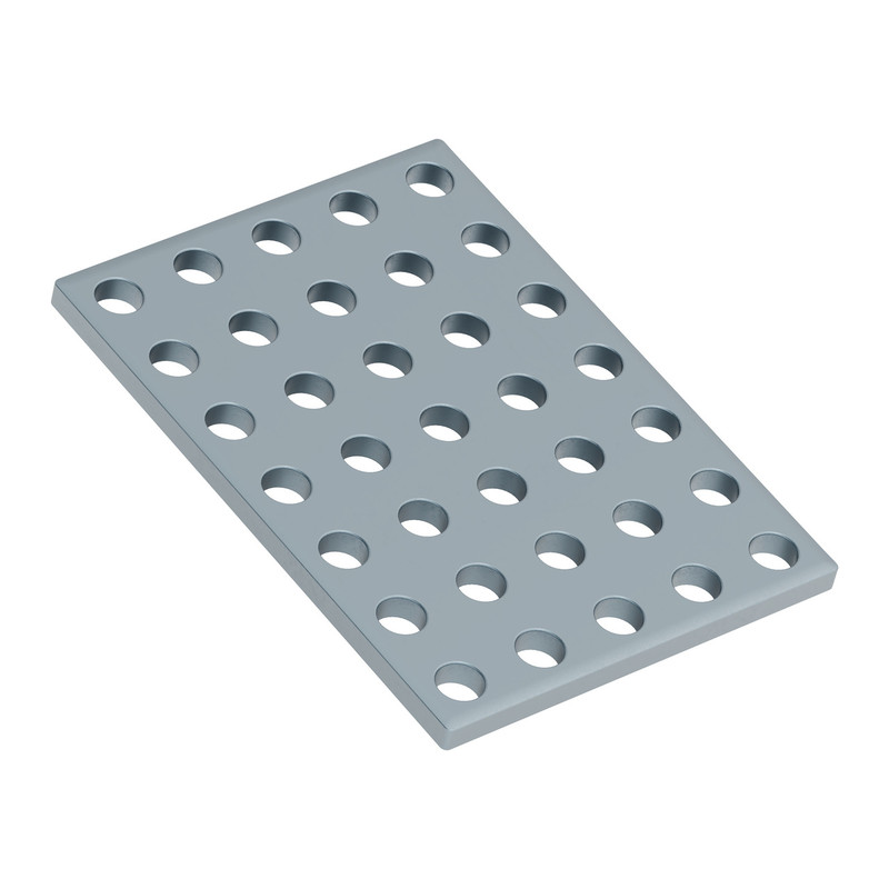 1139-0040-0056 - 1139 Series Steel Grid Plates (5 x 7 Hole, 40 x 56mm) - 2 Pack