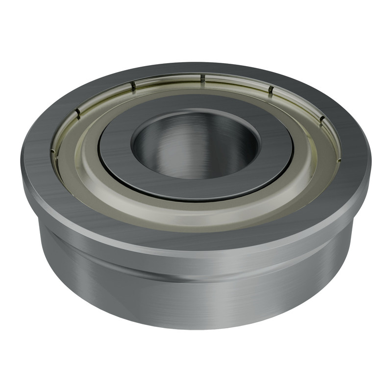 1601-1032-0012 - 1601 Series Flanged Ball Bearing (12mm ID x 32mm OD, 10mm Thickness)
