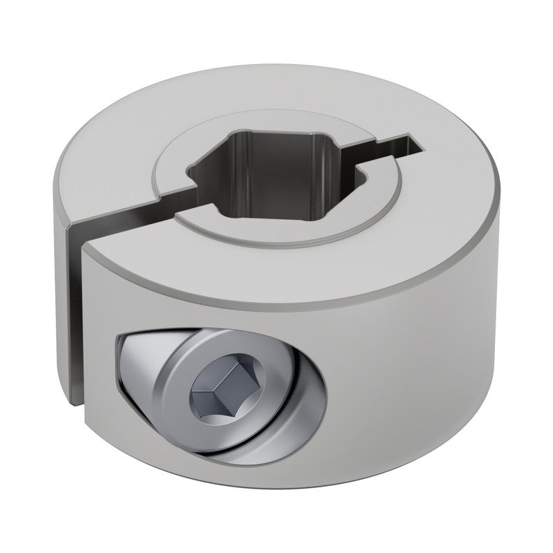 2910-1020-4008 - 2910 Series Aluminum Clamping Collar (8mm REX ID x 20mm OD, 10mm Length)
