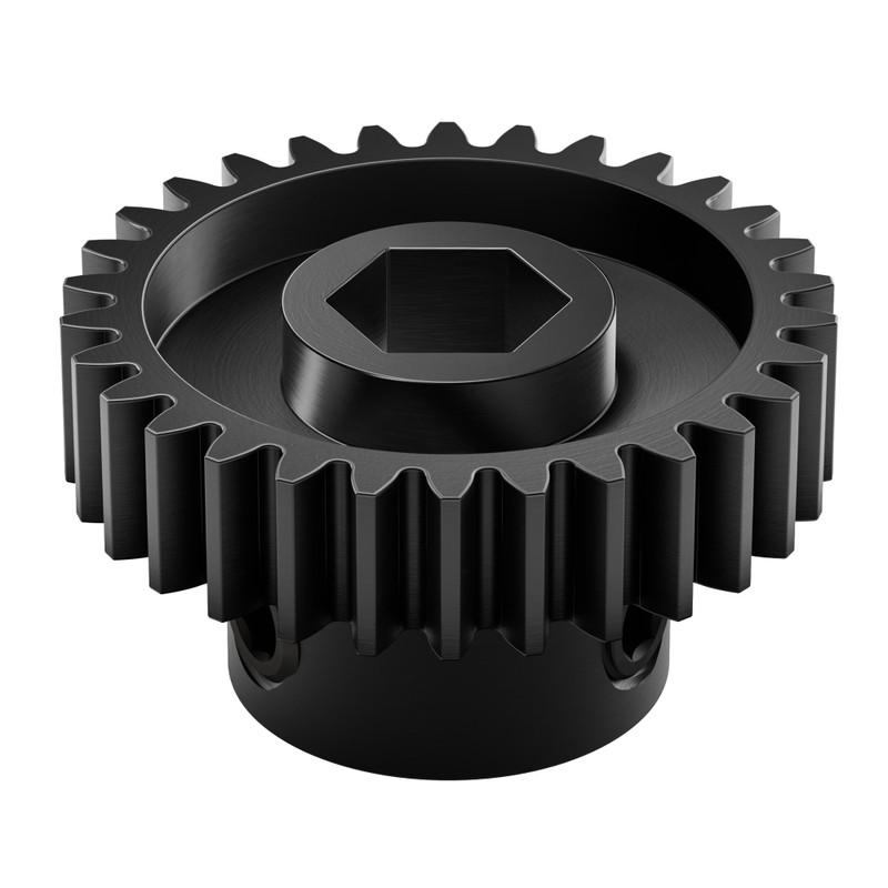2303-4008-0030 - 2303 Series Steel, MOD 0.8 Pinion Gear (8mm REX Bore, 30 Tooth)