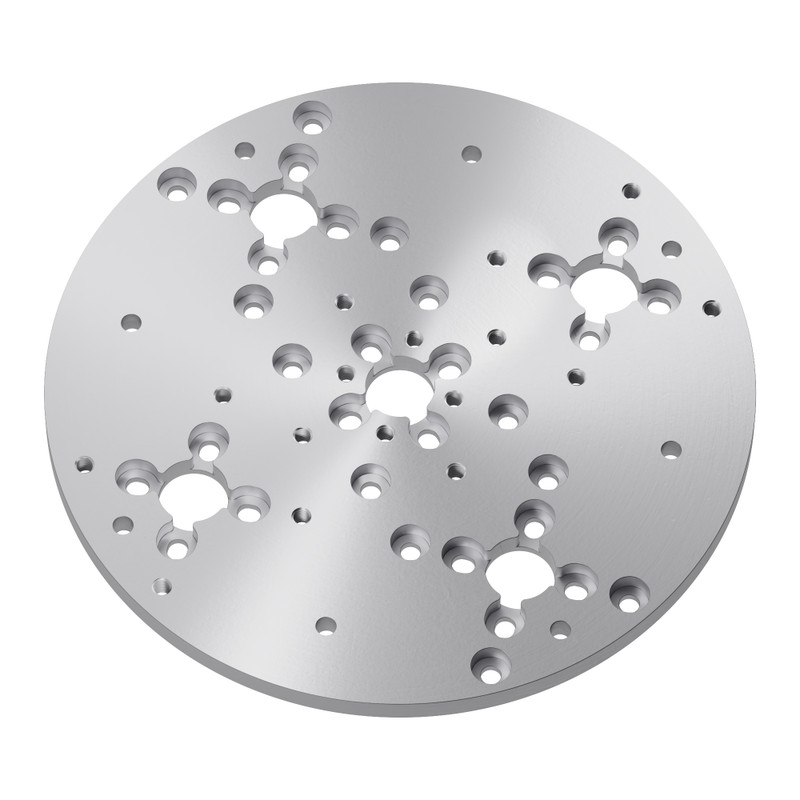 1140 Series Aluminum Baseplate (6mm Thickness, 144mm Diameter)