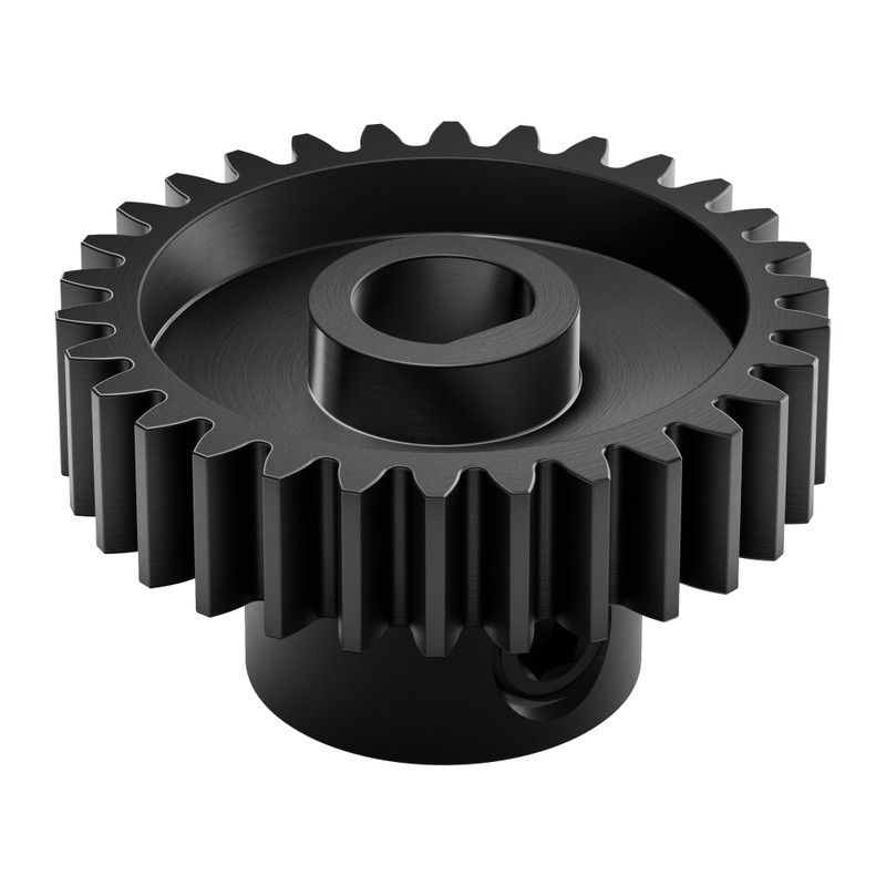 2303 Series Steel, MOD 0.8 Pinion Gear (6mm D-Bore, 30 Tooth)