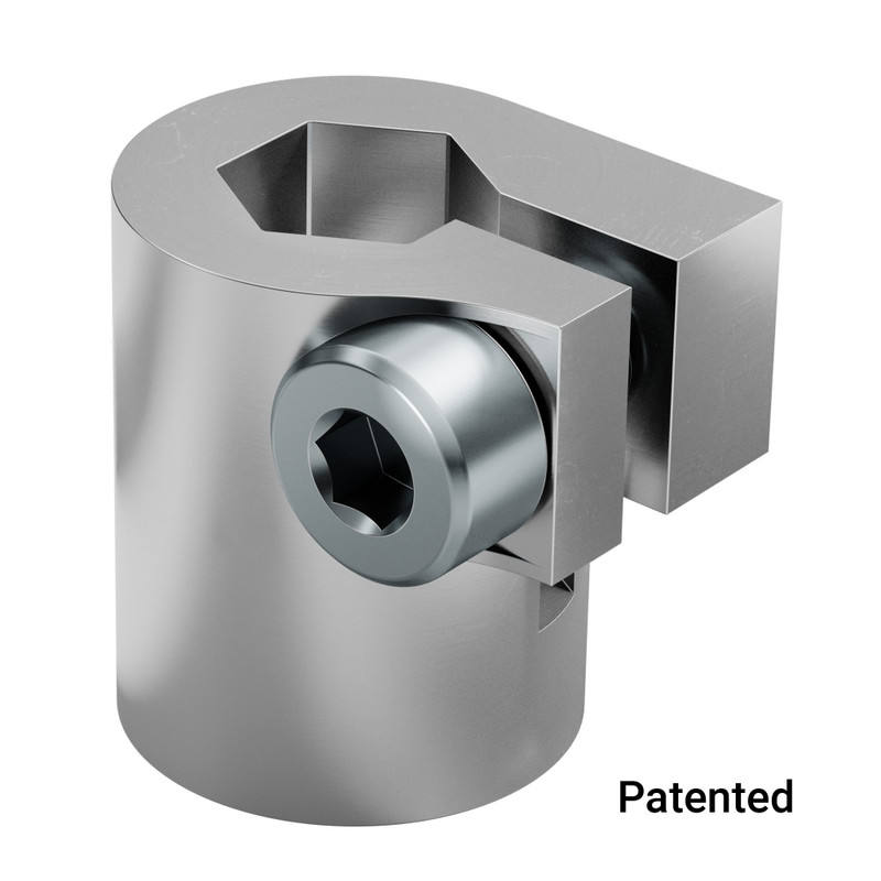 4001 Series Clamping Servo to Shaft Coupler (25 Tooth Spline to 8mm REX Bore)