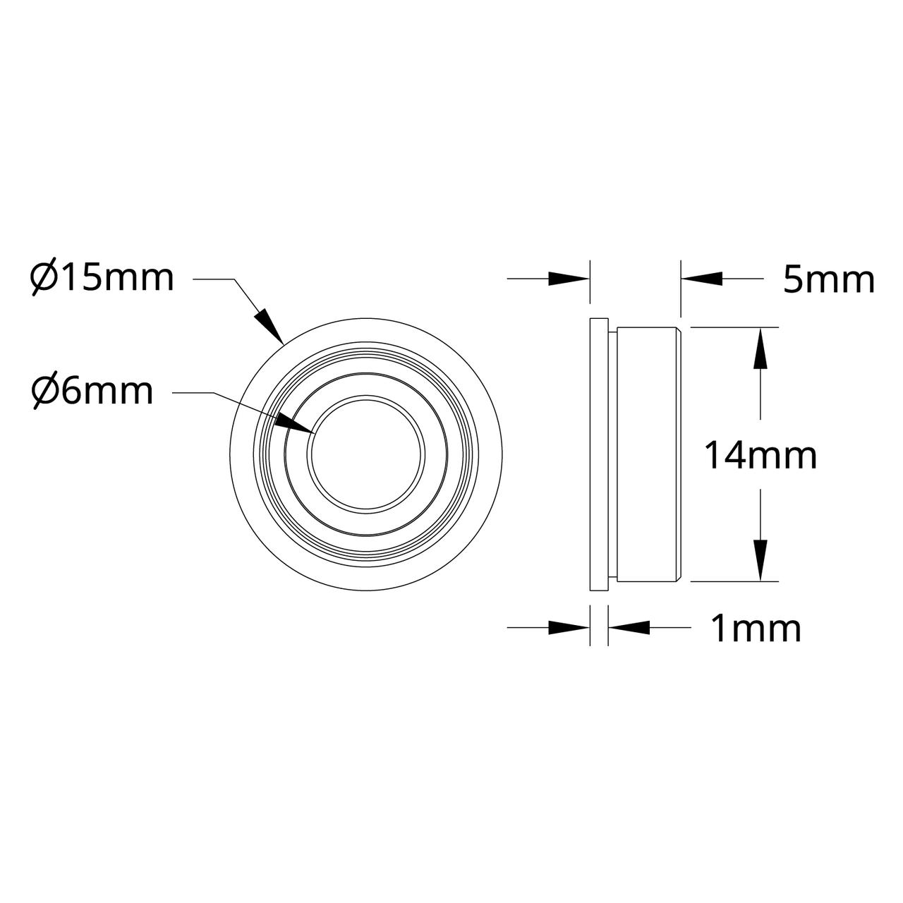 14 Generation 1 Xmods 3mm x 6mm x 2 mm Metric Bearings