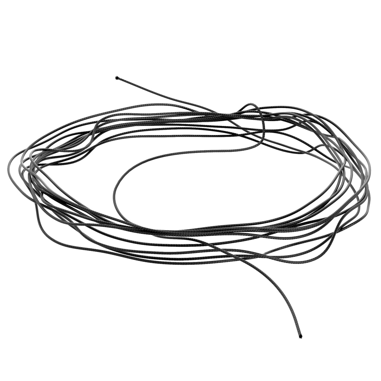 2908-0075-0005 - Synthetic Cable (Black, 0.75mm Diameter, 5M Length)