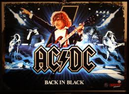 "Stern AC/DC Back in Black LE Animated LED Replacement Panel.  Dimmable ""Two Versions"""