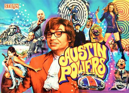 """Stern Austin Powers Enhanced Animated LED Backbox Light Replacement.  """"Two Versions""""  Dimmable"""