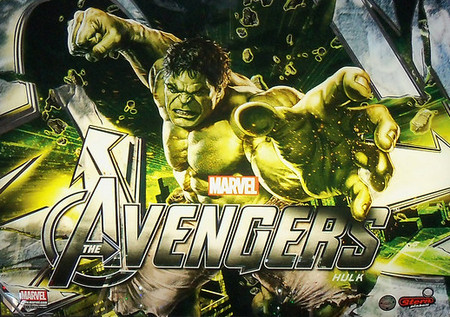 "Stern Avengers Hulk LE Animated LED Replacement Panel.  ""Two Versions""  Dimmable"