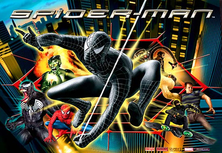"Stern Black Spiderman Enhanced Animated LED Backbox Light Replacement ""Two Versions""  Dimmable"