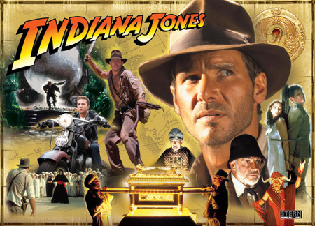 Stern Indiana Jones Enhanced Animated LED Backbox Light Replacement.  Dimmable