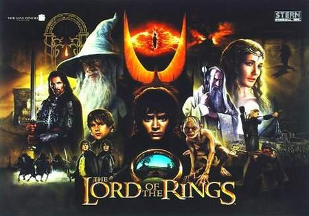 "Stern Lord of the Rings (All) Enhanced Animated LED Backbox Light Replacement.  ""Two Versions""  Dimmable"