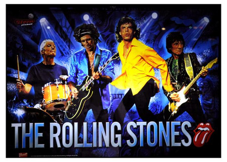"Stern Rolling Stones Enhanced Animated LED backbox Light Replacement.  ""Two Versions"" Dimmable"