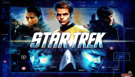 """Stern Star Trek Pro Enhanced Animated LED Backbox Light Replacement """"Two Versions""""  Dimmable"""