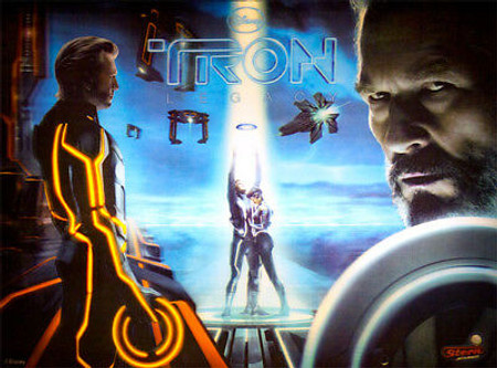 """Stern TRON 3D Enhanced Animated LED Backbox Replacement Light Panel with Center Motion.  """"Two Versions"""" Dimmable"""