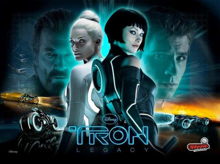 """Stern TRON with Two Women Enhanced Animated LED Backbox  Light Replacement. """"Two Versions""""  Dimmable"""