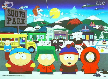 "Stern/Sega South Park Enhanced Animated LED Backbox Light Replacement ""Two Versions""  Dimmable"