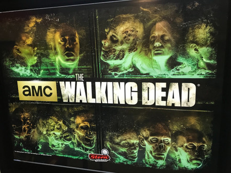 """Stern The Walking Dead Premium Enhanced Animated LED Backbox Light Replacement. """"Two Versions""""  Dimmable"""