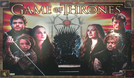 Stern Game of Thrones Enhanced Animated LED Backbox Light Replacement.  Dimmable