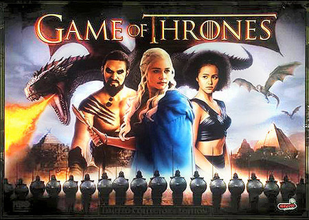 Stern Game of Thrones LE Enhanced Animated LED Backbox Light Replacement.  Dimmable