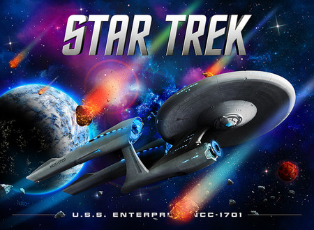 Stern (All) Star Trek with Ulrich's Alternate Translite Animated LED Backbox Light Replacement.  Dimmable