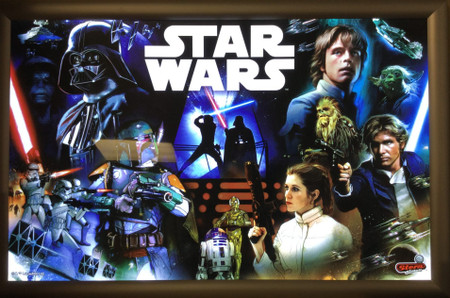 Stern Star Wars Pro Animated LED Backbox Light Replacement.  Dimmable